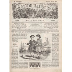 Complete magazine La Mode Illustrée 1867 N°26