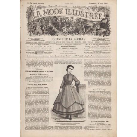 Complete magazine La Mode Illustrée 1867 N°31
