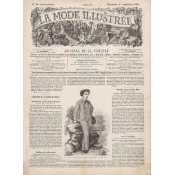 Complete magazine La Mode Illustrée 1867 N°35