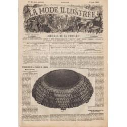 Complete magazine La Mode Illustrée 1861 N°25