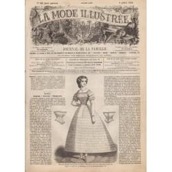 Complete magazine La Mode Illustrée 1861 N°28