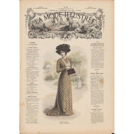 Complete magazine La Mode Illustrée 1909 N°18
