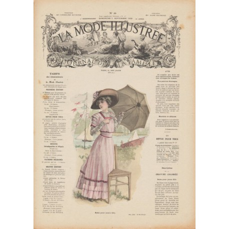 Complete magazine La Mode Illustrée 1909 N°36