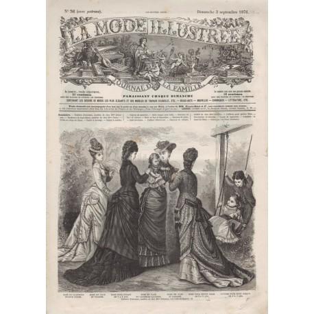 Complete magazine La Mode Illustrée 1876 N°36