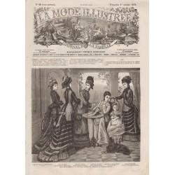 Complete magazine La Mode Illustrée 1876 N°40