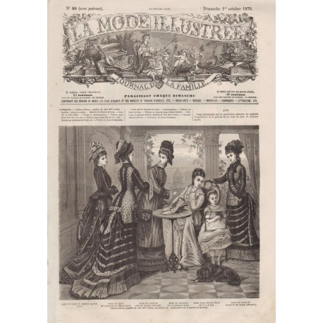 Revue complète de La Mode Illustrée 1876 N°40