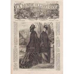 Complete magazine La Mode Illustrée 1876 N°45