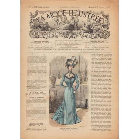 Complete magazine La Mode Illustrée 1900 N°1