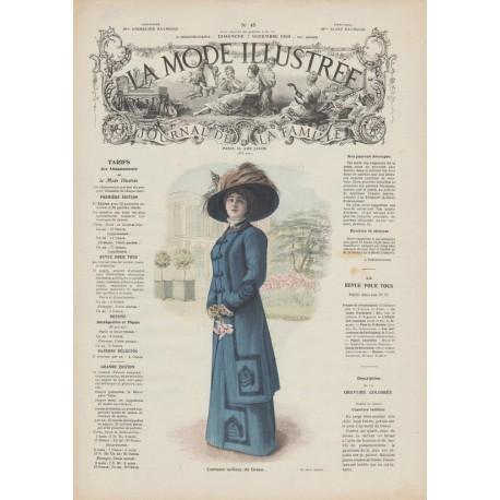 magazine La Mode Illustrée 1909 N°45