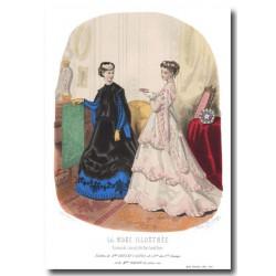Gravure La Mode Illustrée 1867 4