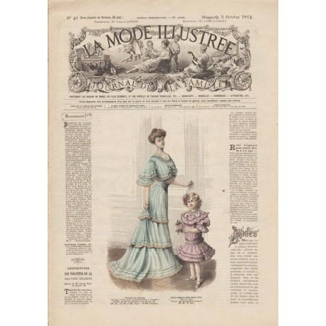 Complete magazine La Mode Illustrée 1904 N°40