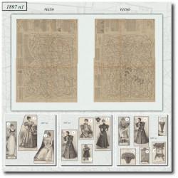 Patrons de La Mode Illustrée 1897 N°01