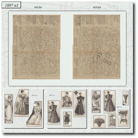 Sewing patterns La Mode Illustrée 1897 N°01