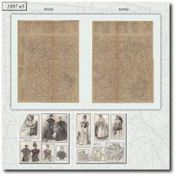Patrons de La Mode Illustrée 1897 N°05