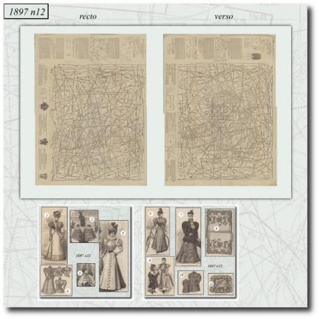 Sewing patterns La Mode Illustrée 1897 N°12