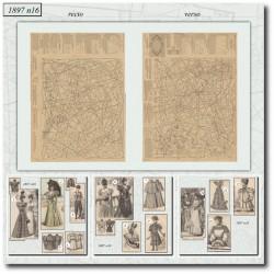 Patrons de La Mode Illustrée 1897 N°16