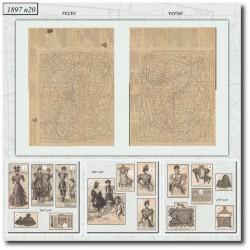 vykrojku La Mode Illustrée 1897 N°20