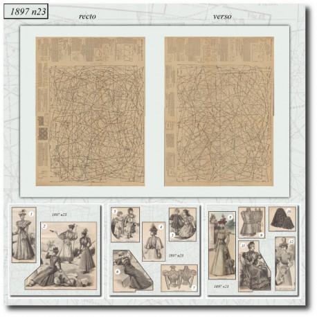 Sewing patterns La Mode Illustrée 1897 N°23