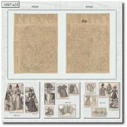 Patrons de La Mode Illustrée 1897 N°25