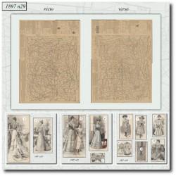 vykrojku La Mode Illustrée 1897 N°29