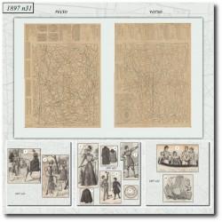 Sewing patterns La Mode Illustrée 1897 N°31