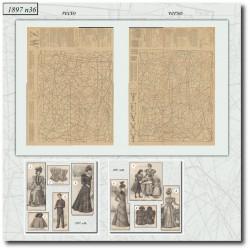 Sewing patterns La Mode Illustrée 1897 N°36