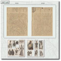 Patrons de La Mode Illustrée 1897 N°38