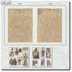 Sewing patterns La Mode Illustrée 1897 N°38