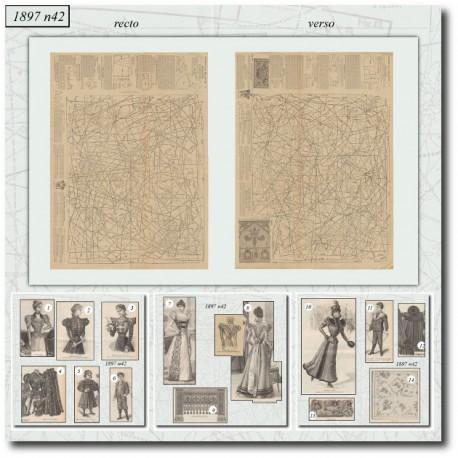 Sewing patterns La Mode Illustrée 1897 N°42