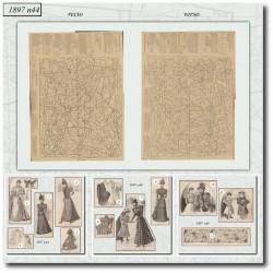 vykrojku La Mode Illustrée 1897 N°44
