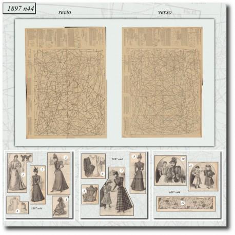 Sewing patterns La Mode Illustrée 1897 N°44