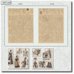 Sewing patterns La Mode Illustrée 1897 N°49