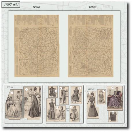 Sewing patterns La Mode Illustrée 1897 N°51