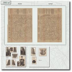 Patrons de corset amazone 1893 N°5