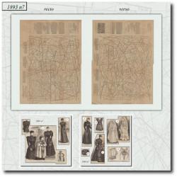 выкройку Эра Victorian La Mode Illustrée 1893 N°7