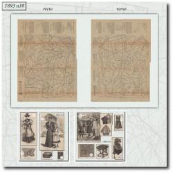 Patrons de La Mode Illustrée 1893 N°10