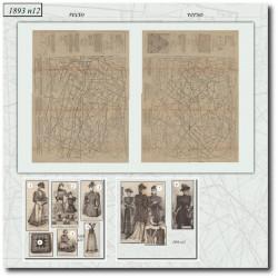 Patrons de La Mode Illustrée 1893 N°12