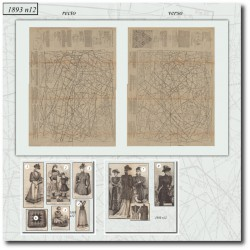 Sewing patterns historical 1893 N°12