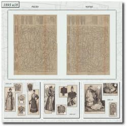Patrons de La Mode Illustrée 1893 N°18