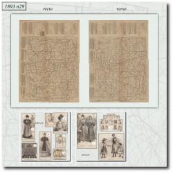 Patrons de La Mode Illustrée 1893 N°29