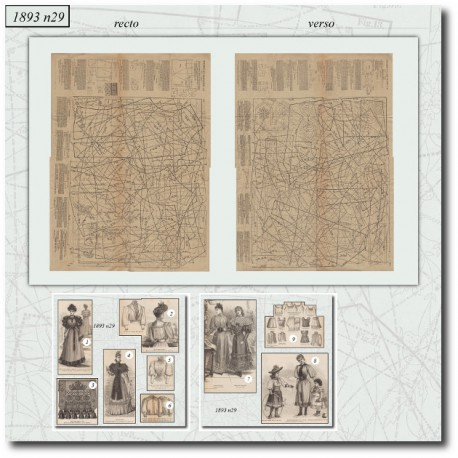 Sewing patterns historical 1893 N°29