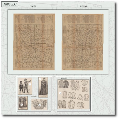 Sewing patterns historical 1893 N°31