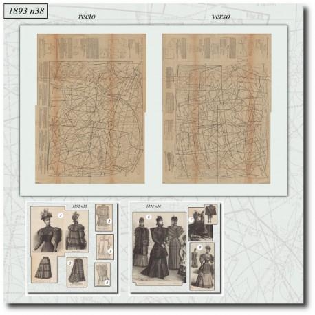 Sewing patterns La Mode Illustrée 1893 N°38