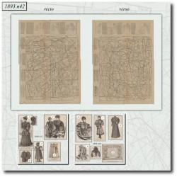 Sewing patterns La Mode Illustrée 1893 N°42