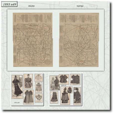 Sewing patterns La Mode Illustrée 1893 N°49