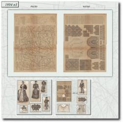 Sewing patterns La Mode Illustrée 1894 N°3