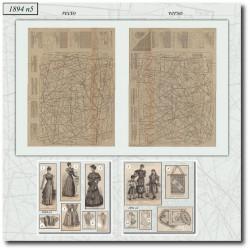 Patrons de La Mode Illustrée 1894 N°5