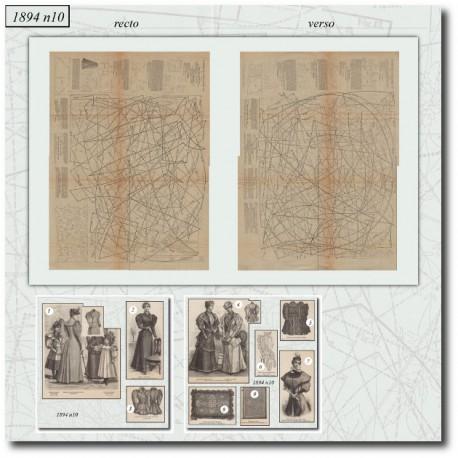 Sewing patterns La Mode Illustrée 1894 N°7