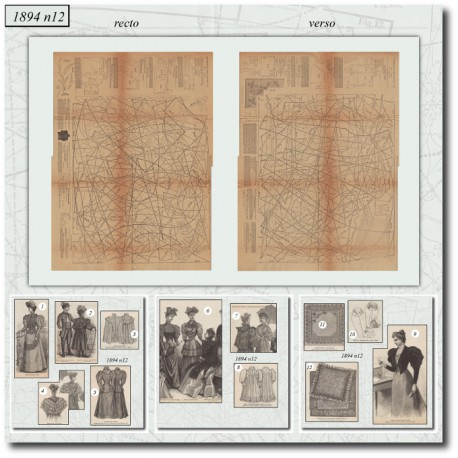 Sewing patterns La Mode Illustrée 1894 N°12