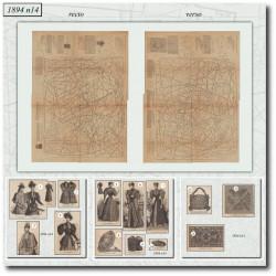 Sewing patterns La Mode Illustrée 1894 N°14